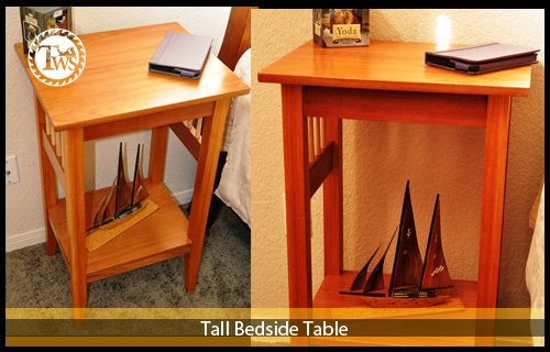 Tall Bed Side Table